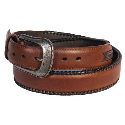 D & D Mens Stitched Leather Arrow Belt