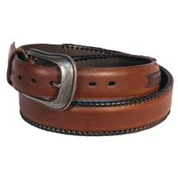 D&D Mens Stitched Leather Arrow Belt
