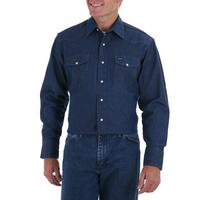 Wrangler Mens Long Sleeve Snap Work Shirt