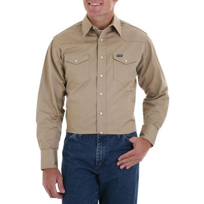Wrangler Cowboy Cut Mens Snap Work Shirt