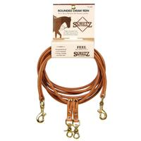 Leather Rounded Draw Reins