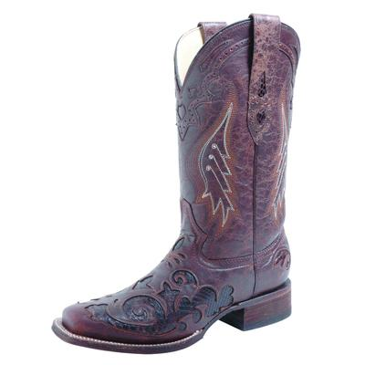 Corral Brown/Chocolate Python Overlay Cowgirl Boots