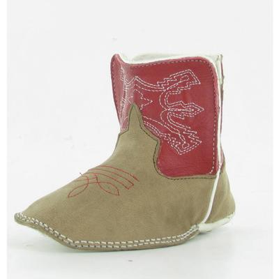 Anderson Bean Infant Red/Tan Booties