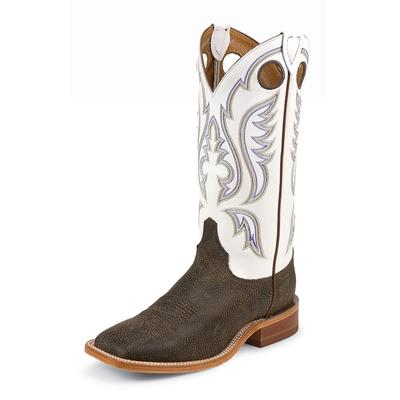 Justin Bent Rail Chocolate Bisonte Cowboy Boot