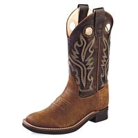 Old West Ultra Flex Square Toe Kids Cowboy Boots