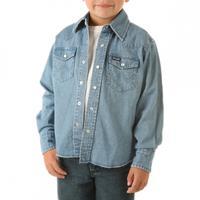 Wrangler Long Sleeve Boys Snap Western Shirt