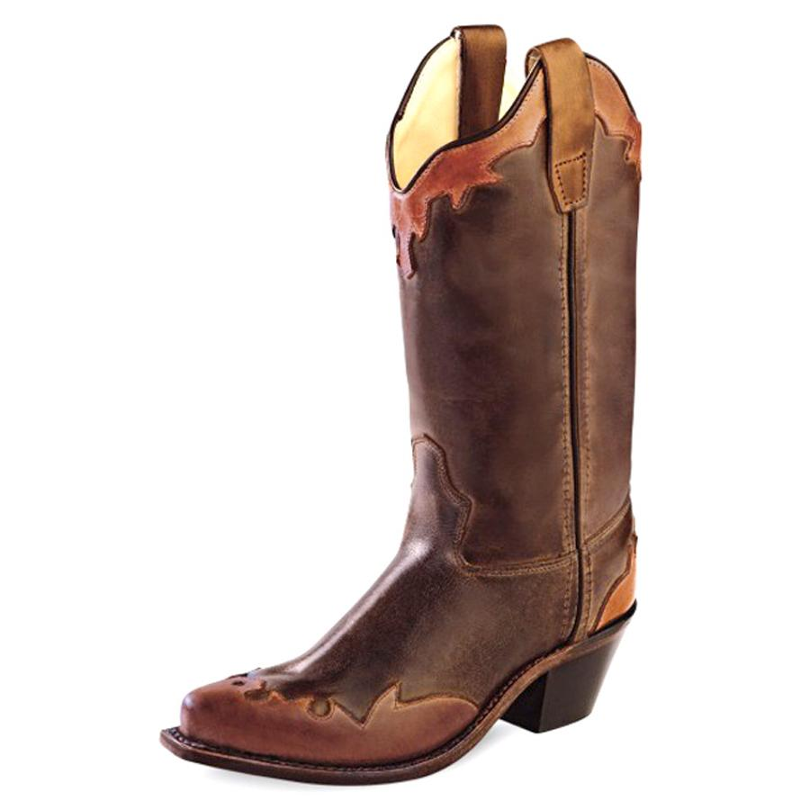 west barnwood wingtip snip toe youth western boots