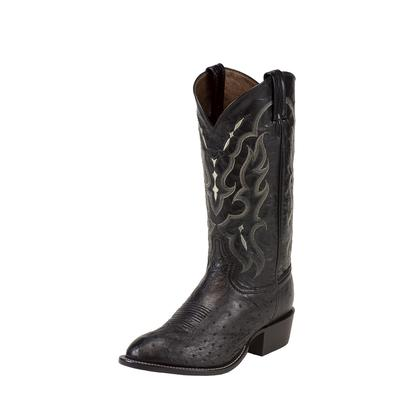Tony Lama Black Smooth Ostrich Cowboy Boots