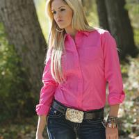 Classic Pink Button Down by Cruel Girl