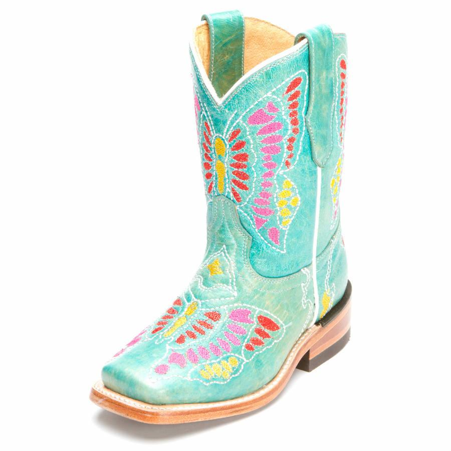 Turquoise Cowgirl Boots Kids