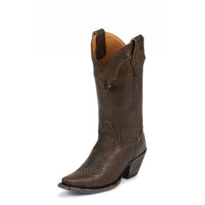 Justin Bronze Granite Calf Cowgirl Boots
