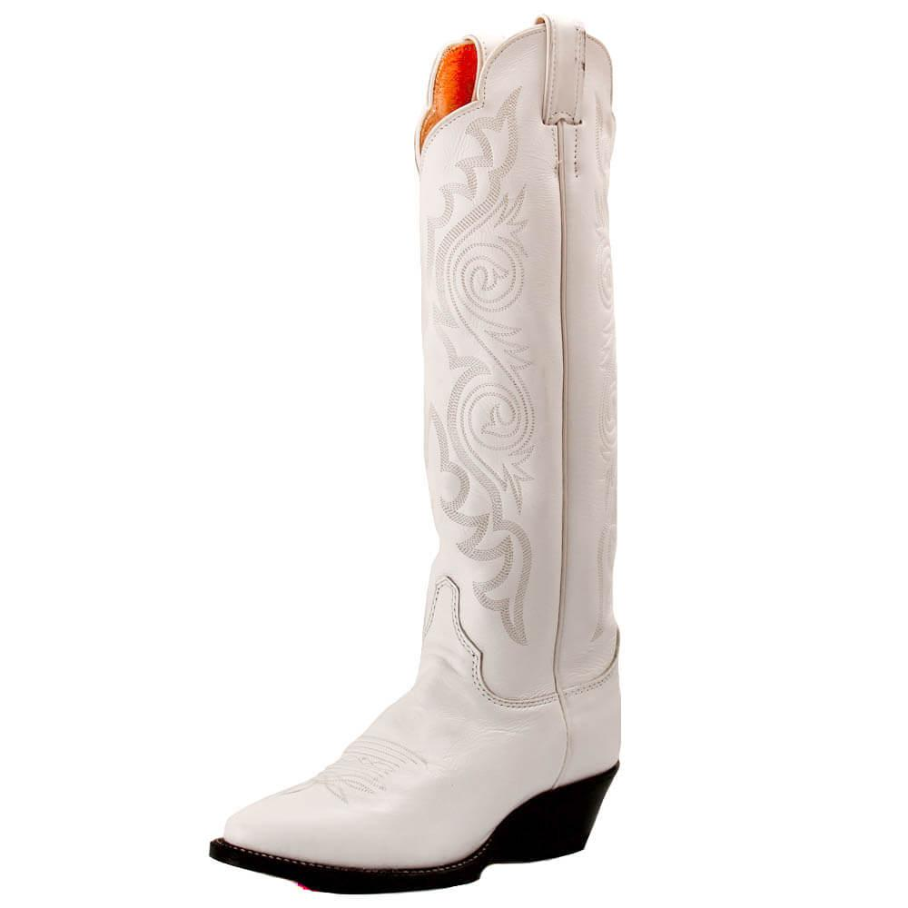 Justin White Dyeable Western Boots