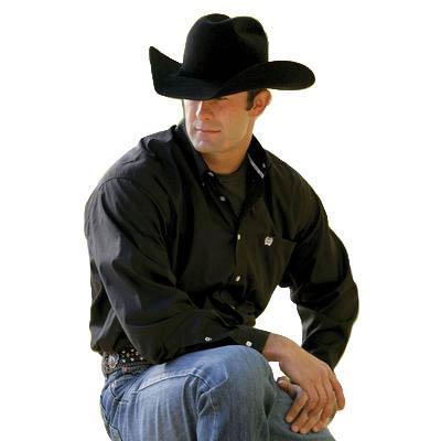 Cinch mens oxford pinpoint button down shirt black d d for Black oxford button down shirt