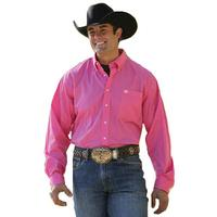Cinch Mens Oxford Pinpoint Button Down Shirt - Pink