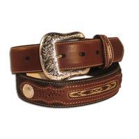 Nocona Mens Southwest Leather Belt