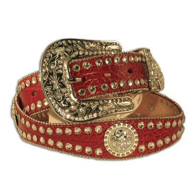 Nocona Scalloped Round Concho Womens Belt
