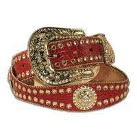 Nocona Scalloped Round Concho Womens Belt