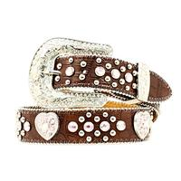 Nocona Girls Heart and Concho Belt