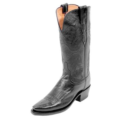 Lucchese Black Buffalo Cowgirl Boots