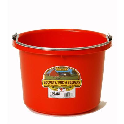 Miller Mfg. Little Giant 8 Qt. Plastic Bucket, Red