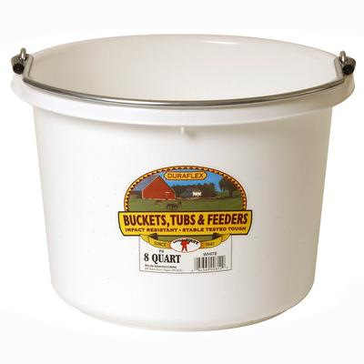 Miller Mfg. Little Giant 8 Qt. Plastic Bucket, White