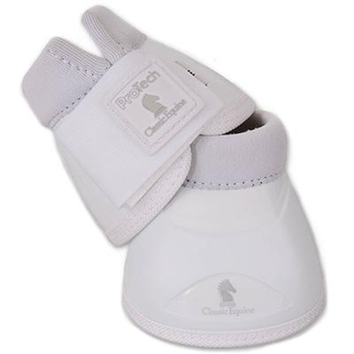 Classic Equine Pro Tech Bell Boots WHITE