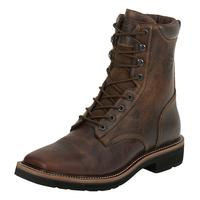 Justin Rugged Tan Lacer Mens Work Boots