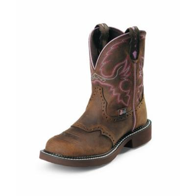Justin Aged Bark Steel Toe Cowgirl Boots