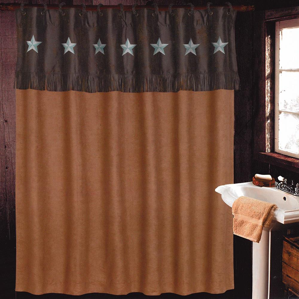 laredo luxury rustic shower curtain set d d