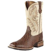 Ariat Mens Quickdraw Chestnut Cowboy Boots