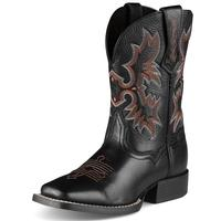 Ariat Youth Black Tombstone Cowboy Boots