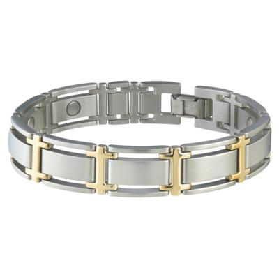 Sabona Mens Executive Symmetry Duet Magnetic Bracelet