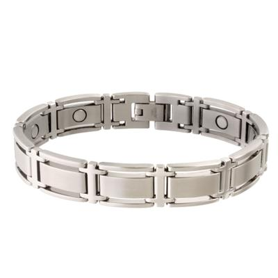 Sabona Mens Executive Symmetry Silver Magnetic Bracelet