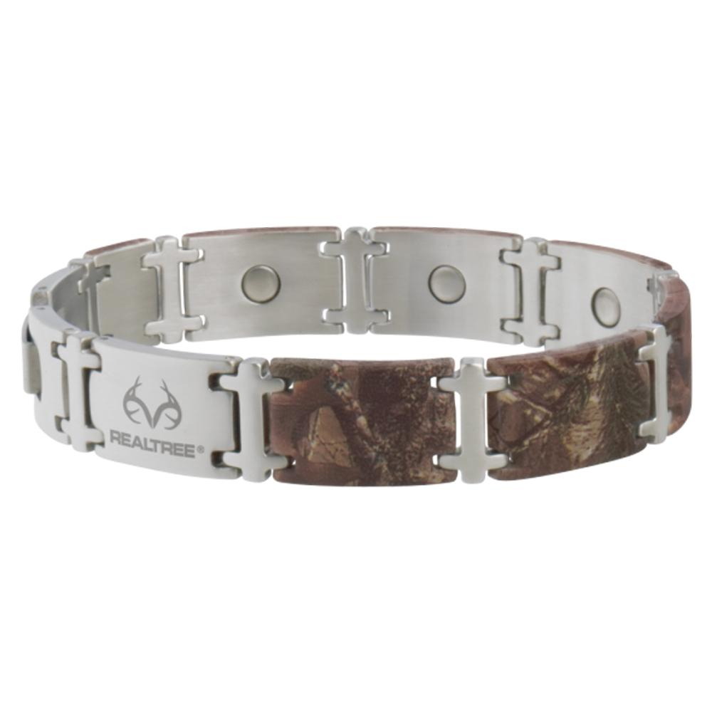 Sabona Mens Realtree Camo Stainless Magnum Magnetic Bracelet Item 447