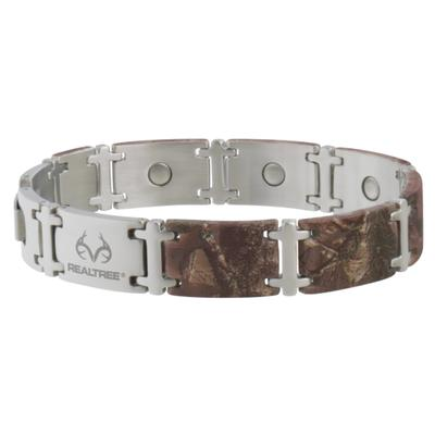 Sabona Mens Realtree Camo Stainless Magnum Magnetic Bracelet