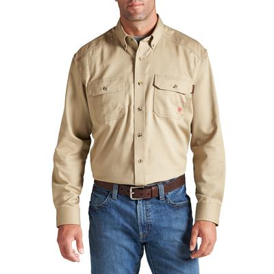 Ariat Men's Khaki FR Solid Work Shirt