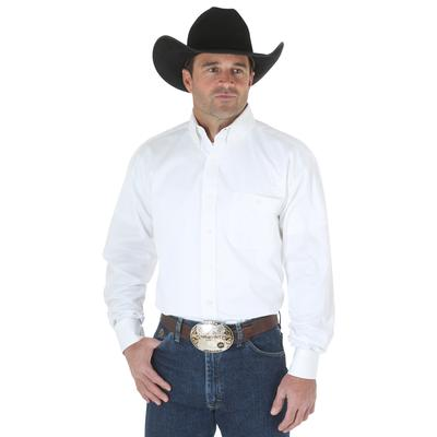 Wrangler George Strait Mens White Twill Shirt