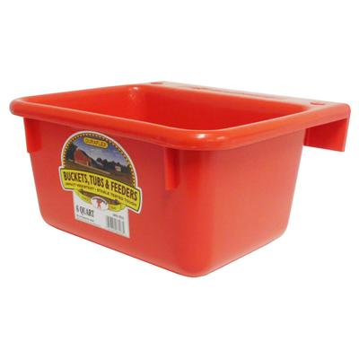 Miller Mfg. DuraFlex 6 Quart Plastic Mini Feeder, Red