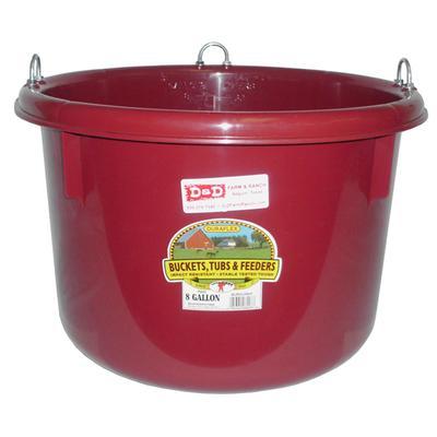 Miller Mfg. Duraflex 8 Gallon Round Plastic Feeder, Burgundy