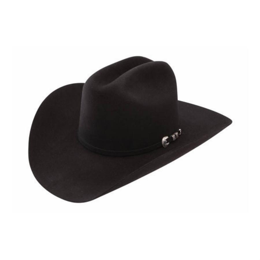 b470807a Stetson Bar None 4x Black Felt Cowboy Hat