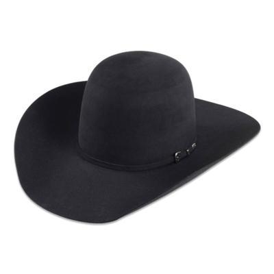 D&D 7X Bull Rider Black Felt Cowboy Hat