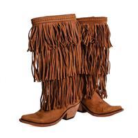 Liberty Womens Vegas Faggio Fringe Boots