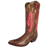 Johnny Ringo Desert Brown/Pink Cowgirl Boots