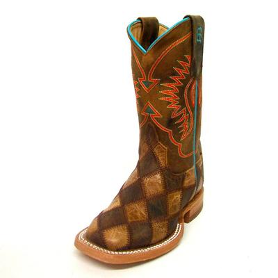 Anderson Bean Patchwork Crazy Horse Kids Cowboy Boots