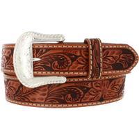 Tony Lama Floral Hand Tooled Mens Belt