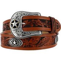 Justin 5 Star Ranch Mens Belt