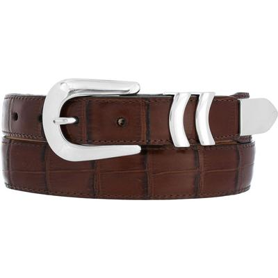 Brighton Crocodile Print Mens Belt