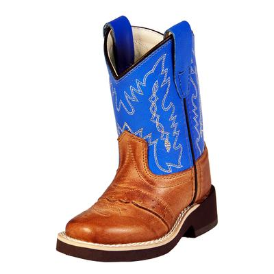 Old West Tan Crepe Youth Cowboy Boots