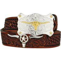 Tony Lama Colton Longhorn Kids Belt