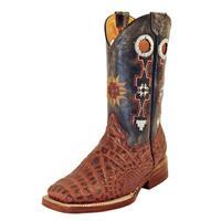 Ferrini Rust Print Belly Crocodile Youth Cowboy Boots